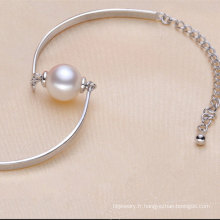 Bracelet à la mode 925sterling avec une perle naturelle (E150035)