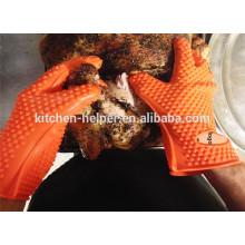 Großhandel Custom Design Küche Kochen Die besten Grillen BBQ Handschuhe / Silikon Grill Ofen BBQ Handschuh / Ofen Mitt