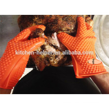 Wholesale Custom Design Kitchen Cooking The Best Grilling BBQ Gloves/Silicone Grill Oven BBQ Glove/Oven Mitt