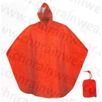 Polyester AC Coating Rain Poncho for Adult