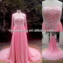 NW-437 Wulstige Oberseite wie Paare Hilton Kleid-Abschlussball-Kleid
