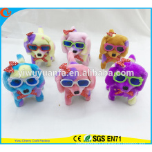 Hot Item Charming Design High Quality Soft Plush Electric Puppies with Cute Red Bowknot