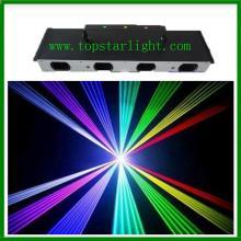 安いレーザー機器 4 頭 4 色のレーザー照明