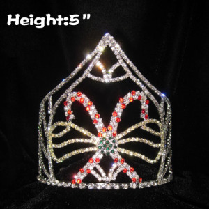 Atacado 5inch Candy Cane Pageant Crowns