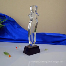 Wholesale high quality cheap glass crystal trophy glass trophies