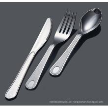 Silber Löffel Gabel Messer Kunststoff