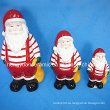 Navidad de cerámica Papá Noel Llevando Bolsas De Regalo