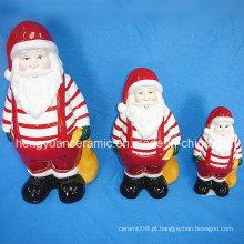 Presente carreg do Natal de Papai Noel Cerâmico Bolsa De Lona