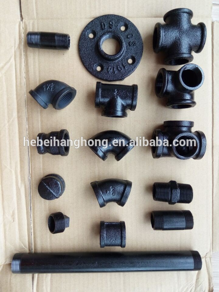 Temperguss Eisen Fittings Wall Floor Industrial