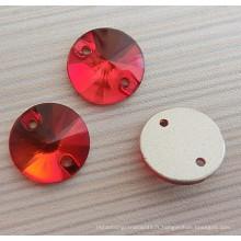 Lumière rouge siam boutons plats à coudre boutons pour la robe
