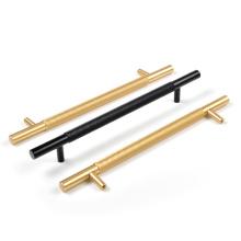 """HJY Golden Knurled 5-1 / 16 """"(128 mm) puxadores e puxadores de gabinete"""