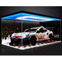 Caja de regalo con pantalla de acrílico transparente para el modelo Porsche