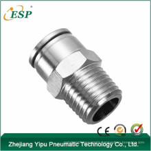 "male straight MPC6mm-1/4"" metal pneumatic fittings"