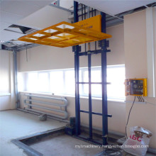 Sjd 0.3-8 Hydraulic Guide Rail Warehouse Hydraulic Lift