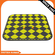 Manufacturer Black & Yellow Durable Rubber Pedestrian Crossing