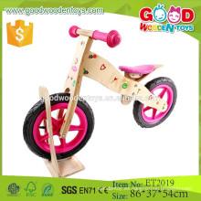Venta caliente hecha a mano y colorida de 12 pulgadas eva bicicleta de madera de niño de neumático