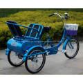 24 polegadas rodas triciclos adulto para o velho