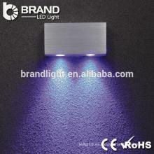 Alta calidad ip20 2 * 3w ronda llevó la luz de la pared, interior llevó la luz de la pared