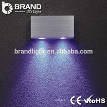 Высокое качество ip20 2 * 3w круглый светодиодный настенный светильник, настенный светильник со светодиодной подсветкой