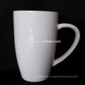 Weißes Porzellan tassen kundenspezifische Form