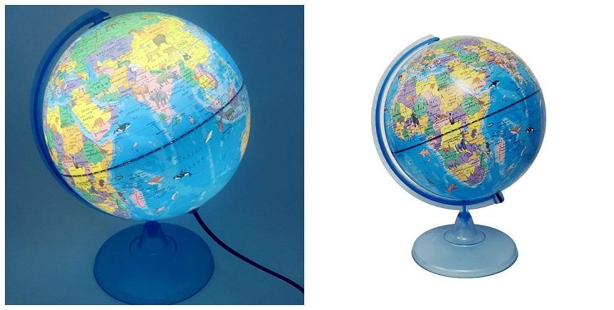 illumated globe 25cm safari
