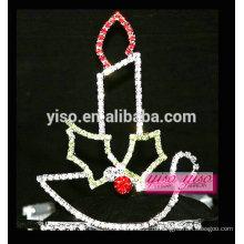 Великолепный кристалл рождество красивая принцесса свеча тиара