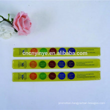 cute ruler slap bracelet / pvc snap wristband