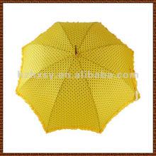 Belle couleur lumineuse pongé parapluie, droite Golf Auto Open