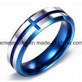 Wolfram-Schmucksachen blaue Überzug-Mann-Ring-Körper-Schmucksachen