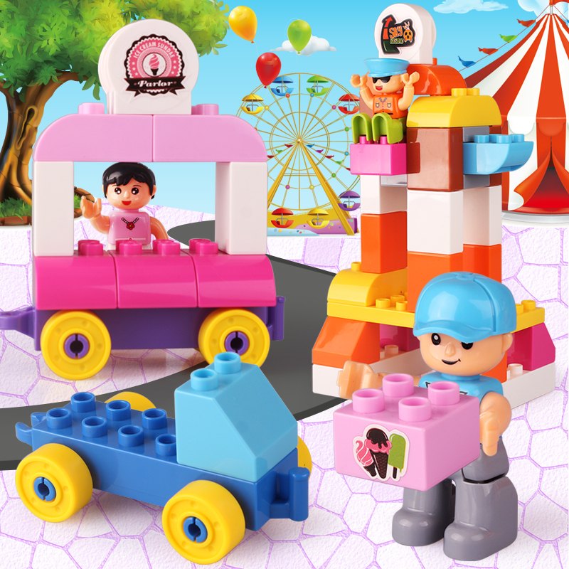 Plastic Building Bricks Amusement Park Funfair Toys