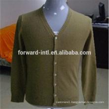 knitted men's v neck cashmere cardigan