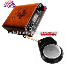newest design portable rechargeable battery tattoo power supply with wireless foot pedal