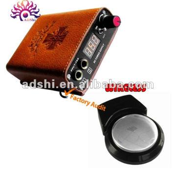 La más nueva fuente de alimentación portable del tatuaje de la batería recargable del diseño con el pedal sin hilos