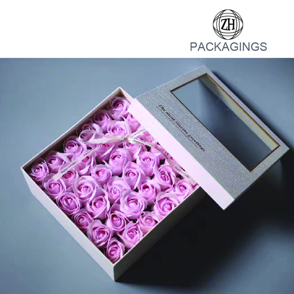 Luxury fresh rose flower packaging box wholesale