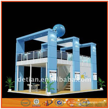 estande de exposição de dois andares, estande de dois andares, empreiteiro de exposições
