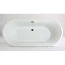 Freestanding Bathtub with Clear Pure Acrylic