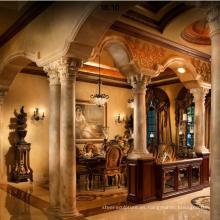 Nuevo diseño de la decoración del hogar de alta calidad que apoya columnas de mármol