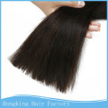 100% unprocessed full end double drawn 7A silk straight Brazilian hair bulk