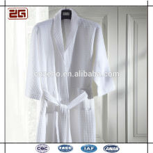 100% Cotton Waffle Fabric Custom Embroidered Hilton Hotel Bathrobe for Sales