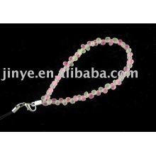 moda pulsera de perlas de vidrio transparente