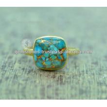 Gemme turquoise 925 bijoux en argent sterling pour bijoux fournisseurs