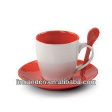 2015 vente chaude et utilisation d'ensembles de tasses de café largement céramique