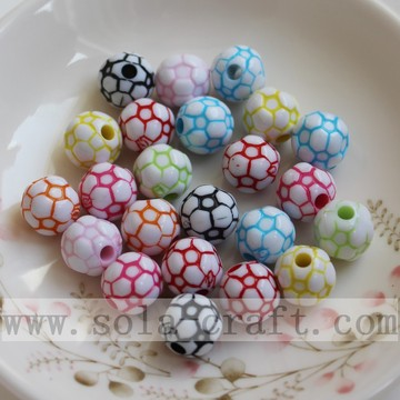 Colorful Football Beads with White Background Wholesale