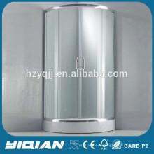 Einfache Design Ecke Duschkabine 5MM gehärtetes Glas Duschgehäuse