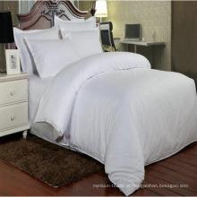 Conjuntos de roupa de cama listra de cetim para cama edredon lençol capa (dpf1067)