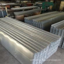 Coffrage à nervures hautes en acier inoxydable/galvanisé à chaud