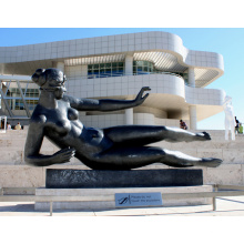 función de fundición de bronce y técnica de fundición escultura de mujer desnuda