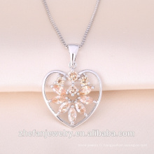 Pendentif amant de forme de coeur précieuse Ruby Gemstone en forme de coeur en forme de Valentine cadeau Love pendentif
