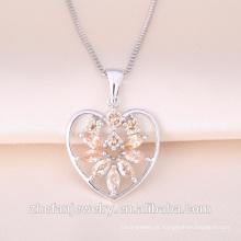 Amante da forma do coração pingente Precioso Ruby Gemstone Heart Shaped Valentine Presente Amor Pingente