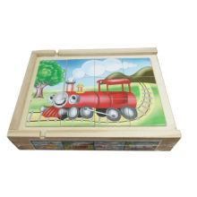 Caja de madera educativa del rompecabezas 4 en 1 juguetes de madera